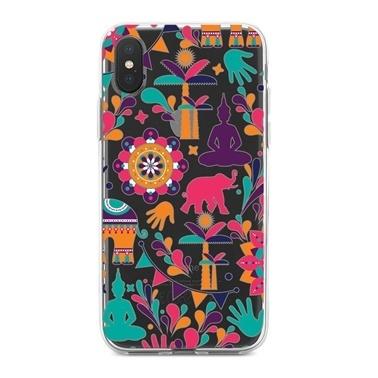 Lopard iPhone Xs Max Kılıf Silikon Arka Koruma Kapak Hindistanı Seviyorum Desenli Renkli